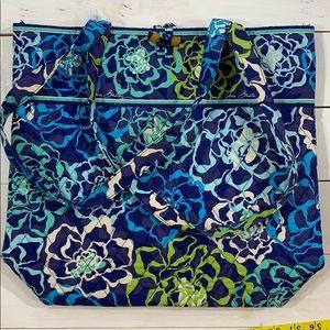 Vera Bradley Blue Green Floral Tote